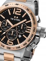 Ceas: Ceas barbatesc TW-Steel CB134 Canteen Bracelet Cronograf 50mm 10ATM