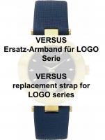 Ceas: Versus original Uhrenarmband für Logo Serie 18 mm, blau Ref. 29164