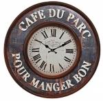 Ceas: Antique HOME 17783 Cafe du Parc Wanduhr klassisch