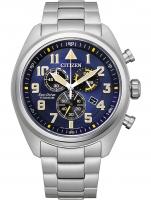 Ceas: Citizen AT2480-81L Eco-Drive Super-Titanium chronograph 43mm 10ATM