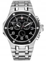 Ceas: Ceas barbatesc V.O.S.T. Germany V100.007.CS.SC.M.B Cronograf MECANISM 8171/202, ISA, SWISS-MADE Curea Otel 44MM 20ATM