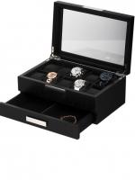 Ceas: Cutie Ceasuri & Bijuterii Lemn Rothenschild RS-2351-8BL Pentru 10 Ceasuri