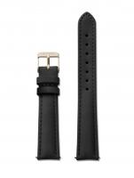 Ceas: Cluse Ersatzband CLS321 [16 mm] schwarz m. gold Schließe
