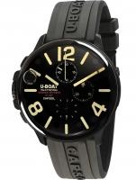 Ceas: Ceas barbatesc U-Boat 8109/B Capsoil Cronograf DLC 45mm 100M