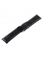 Ceas: Universal Curea de schimb [24 mm] Negru + Catarama fluture Ref. 23834