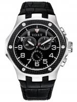 Ceas: Ceas barbatesc V.O.S.T. Germany V100.008.CS.SC.L.B Cronograf MECANISM 8171/202, ISA, SWISS-MADE  Curea piele 44MM 20ATM