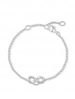 Ceas: Thomas Sabo Charm Armband Infinity X0204-001-12 16,5-19,5cm