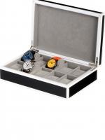 Ceas: Cutie Ceasuri Negru - Alb Rothenschild RS-2330-10BL Pentru 10 Ceasuri