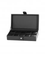 Ceas: Cutie Piele Rothenschild RS-3500-10BL pentru 10 Ceasuri Neagra