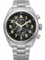 Ceas: Citizen AT2480-81E Eco-Drive Super-Titanium chronograph 43mm 10ATM