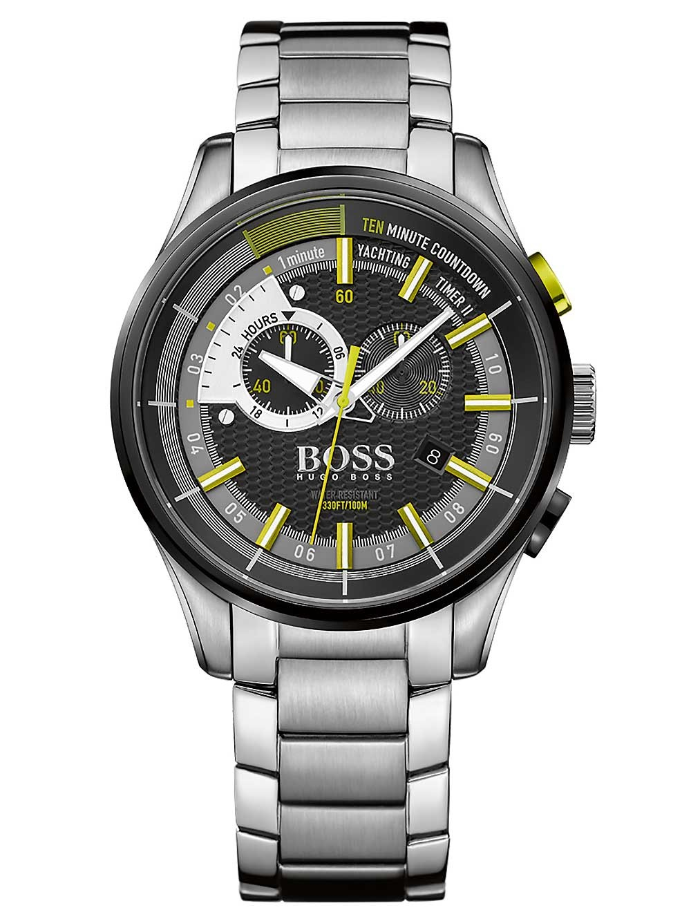ceas barbatesc hugo boss 1513336 yachting timer 46mm 10atm