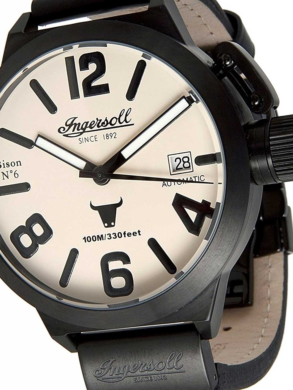 ceas barbatesc ingersoll in8900bcr bison no. 6 automatic 52mm 10atm