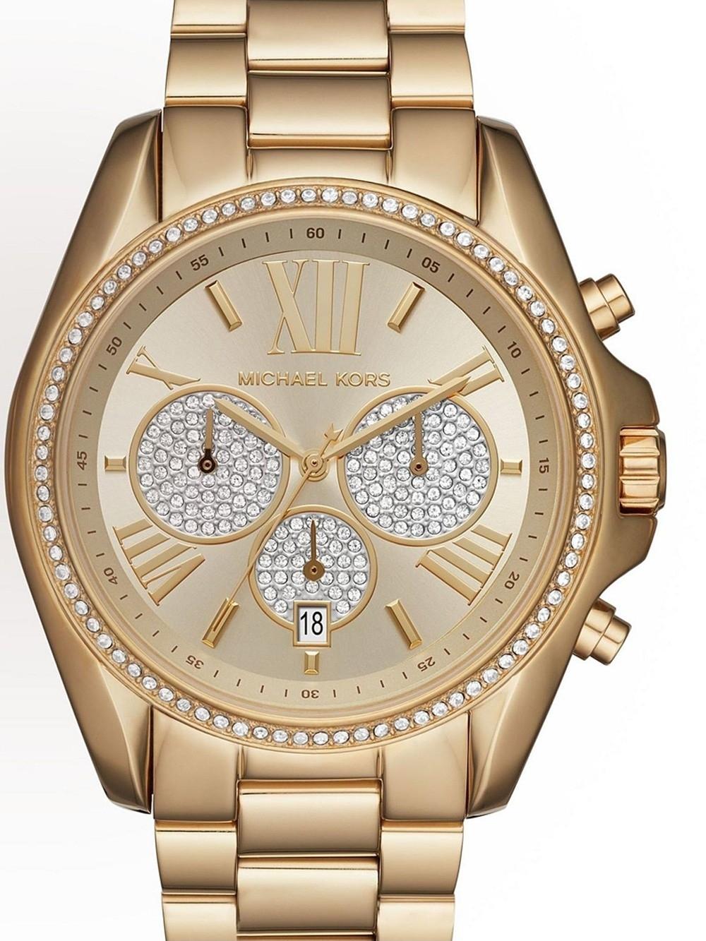 ceas de dama michael kors mk6538 bradshaw chrono. 43mm 10atm