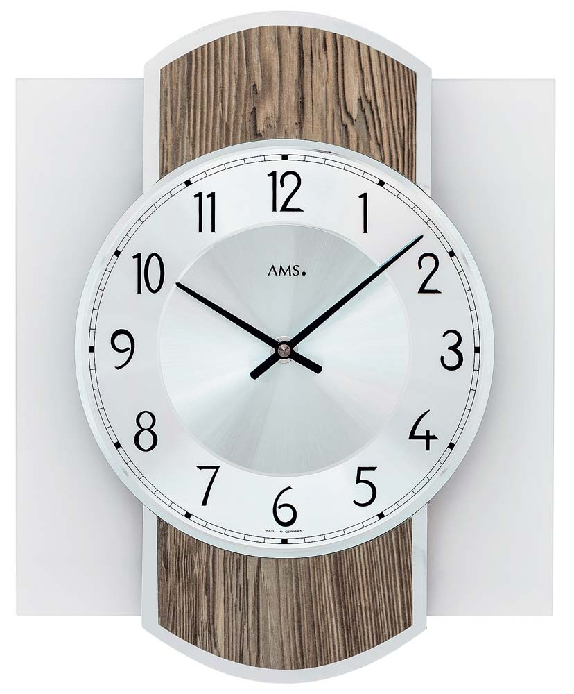 ceas de perete ams 9562 modern - serie: ams design