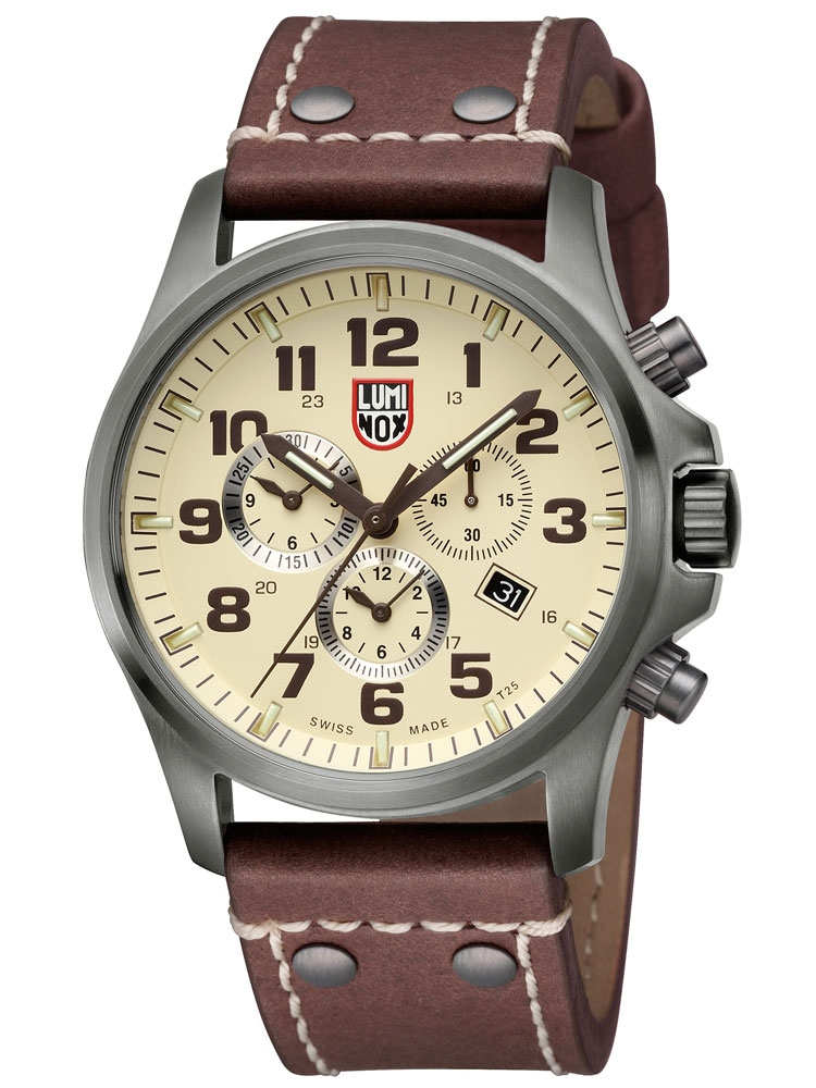 ceas barbatesc luminox atacama field a.1947 cronograf 10atm 47mm