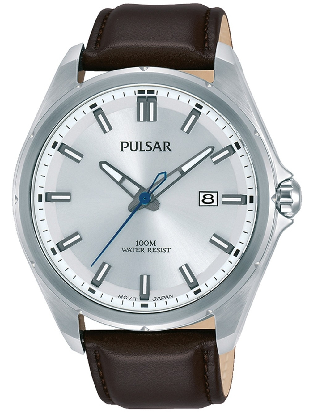 ceas barbatesc pulsar ps9553x1 klassik 44mm 10atm