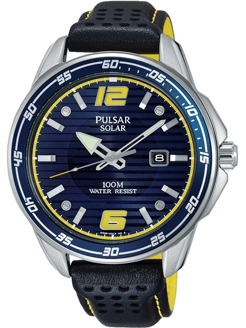 ceas barbatesc pulsar px3091x1 solar 42mm 10atm