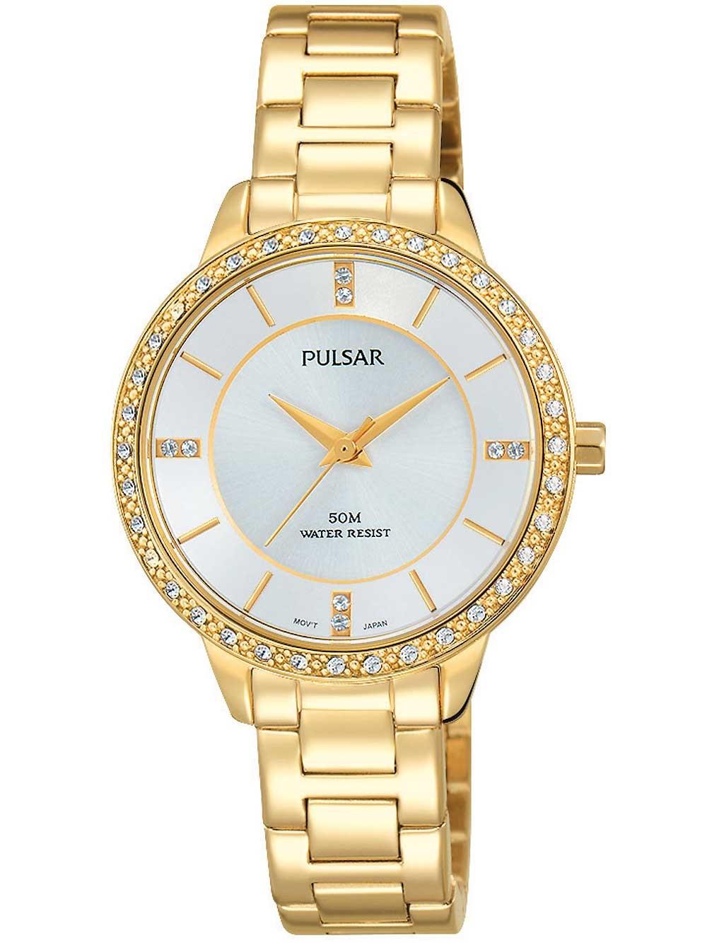 ceas de dama pulsar ph8218x1 swarovski 30mm 5atm