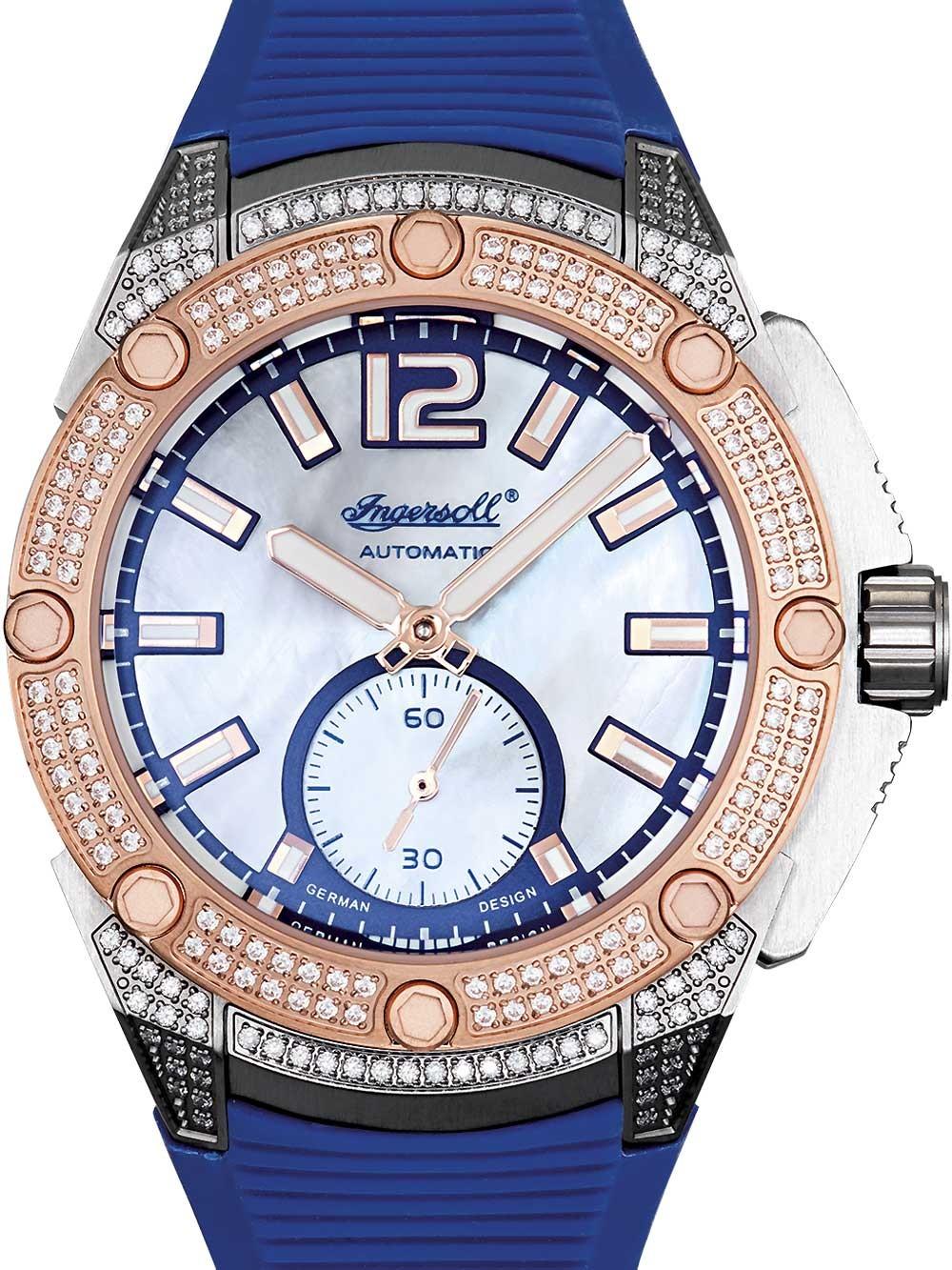 ceas de dama ingersoll in1104bl san-francisco automatic 38mm 5atm