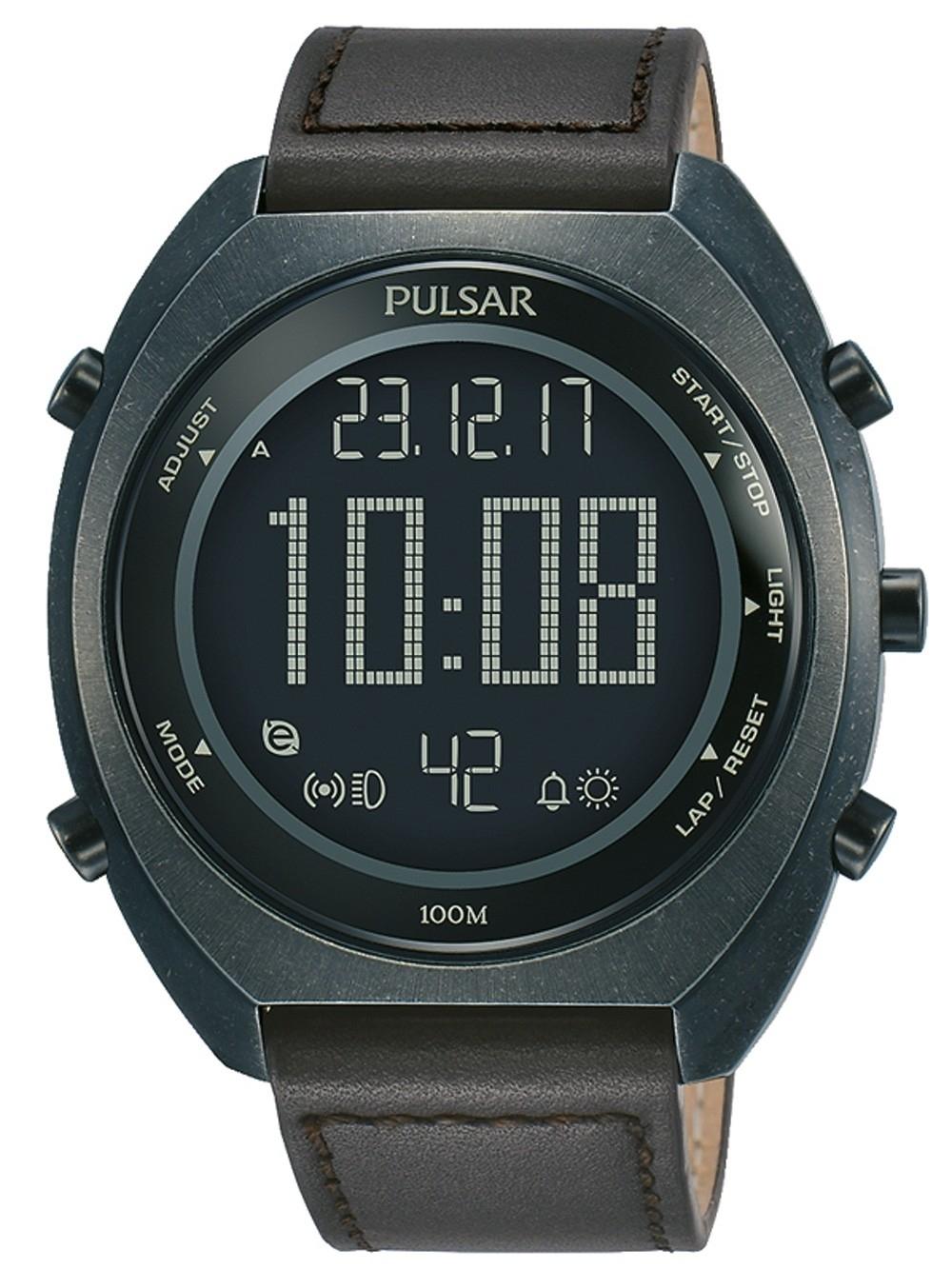 ceas barbatesc pulsar p5a029x1 chrono. 45mm 10atm