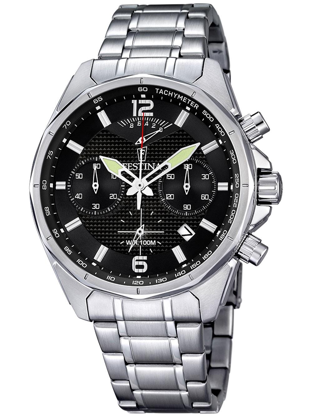 ceas barbatesc festina f6835/4 cronograf 45mm 10atm