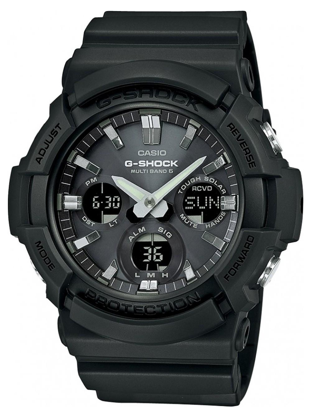 ceas barbatesc casio gaw-100b-1aer g-shock solar 52mm 20atm