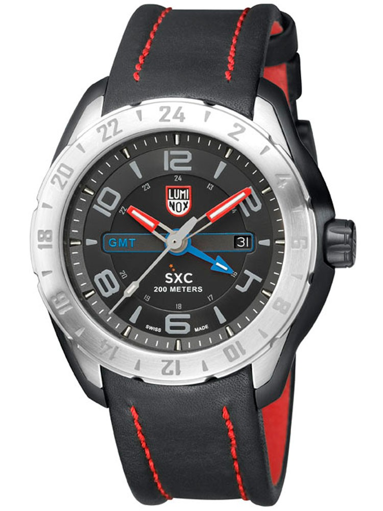 ceas barbatesc luminox sxc pc gmt 5120 space series a.5127 45 mm 20 atm