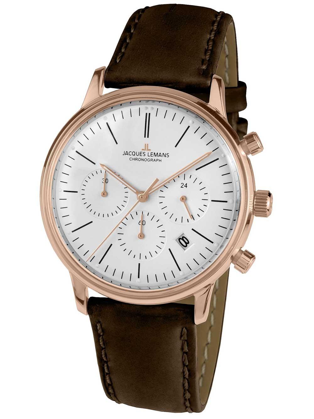 ceas unisex jacques lemans n-209zd retro classic chronograph 39mm 5atm