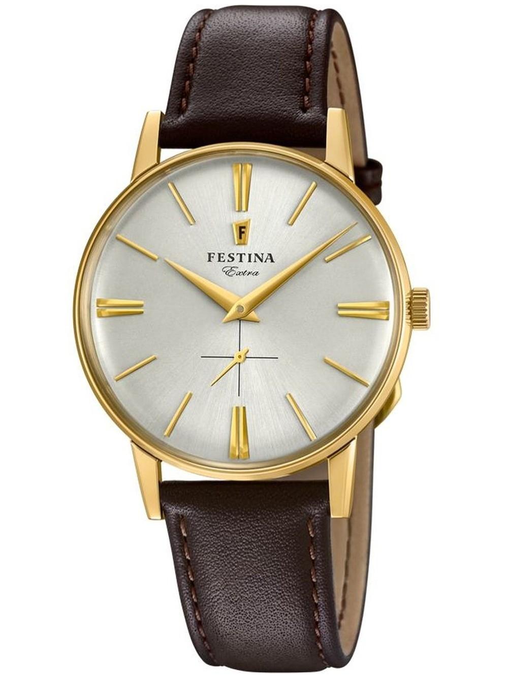 ceas barbatesc festina f20249/1 extra 1948 36mm 3atm