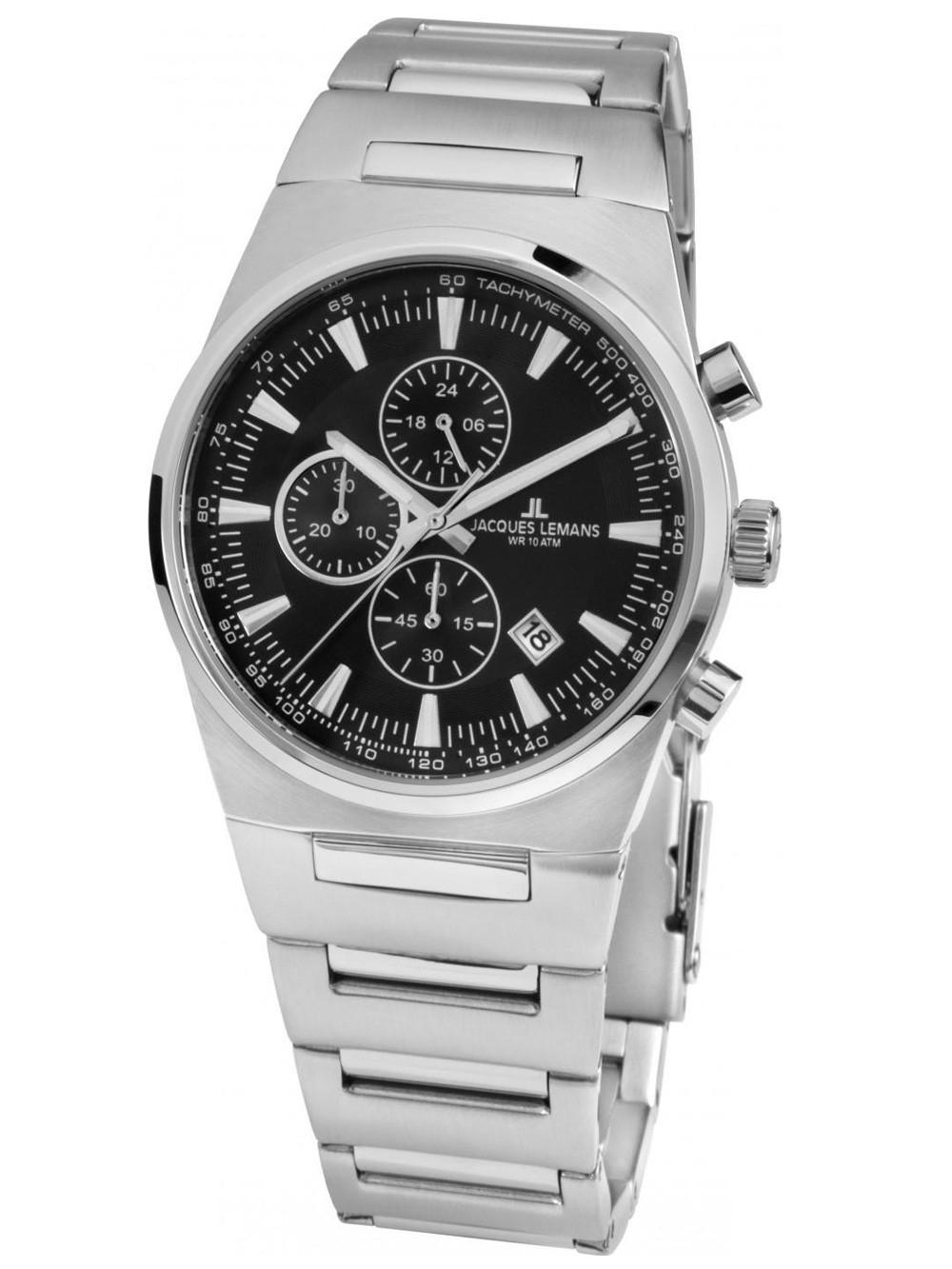 ceas de dama jacques lemans 1-1738a manchester chrono 36mm 10atm