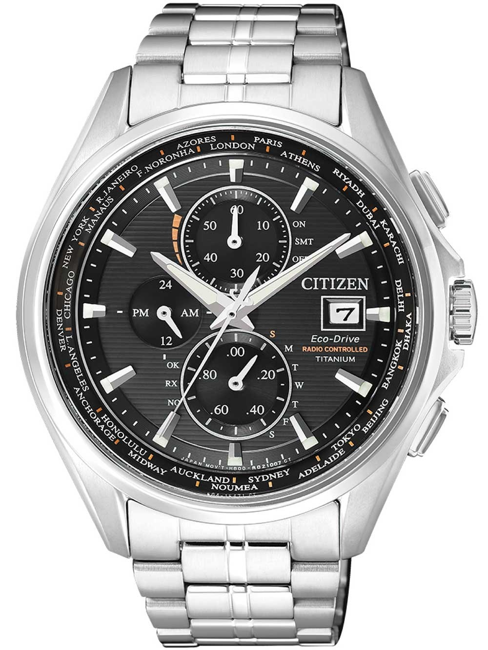 ceas barbatesc citizen at8130-56e eco-drive titan radio controlat-cronograf 43mm 10atm