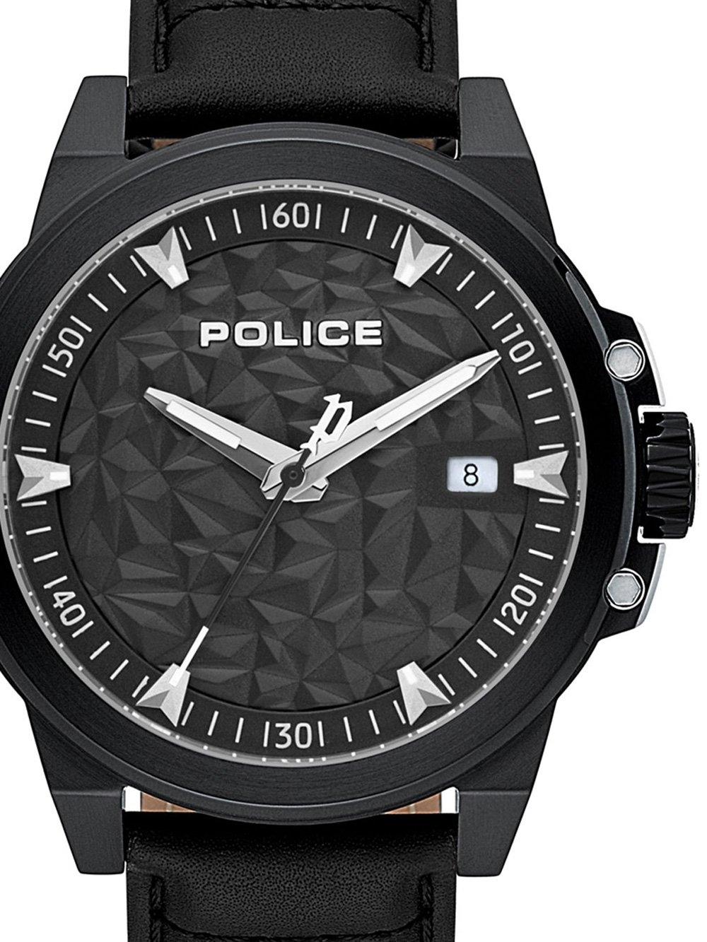 ceas barbatesc police pl15398jsb.02 polygon 46mm 5atm