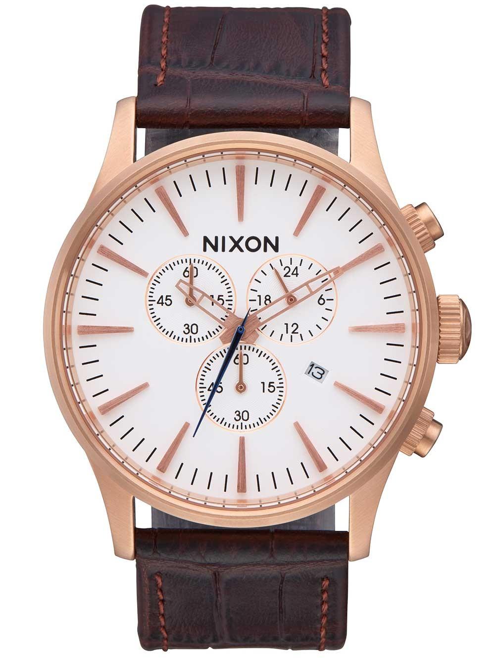 ceas barbatesc nixon a405-2459 sentry chrono 42mm 10atm