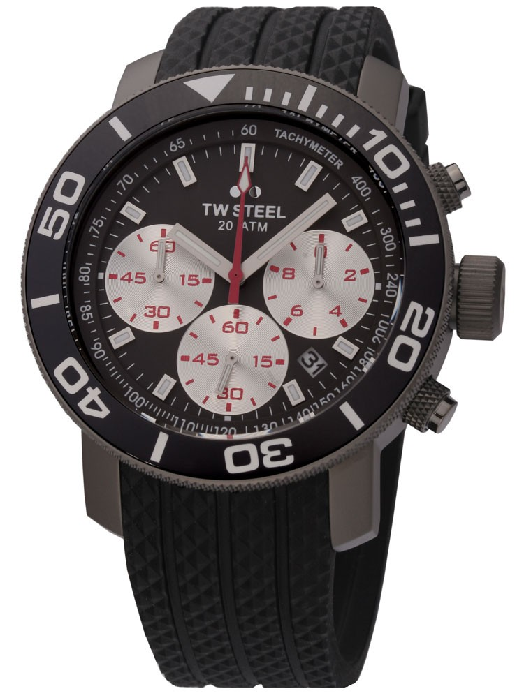 ceas barbatesc tw steel tw704 new grandeur diver 45 mm cronograf