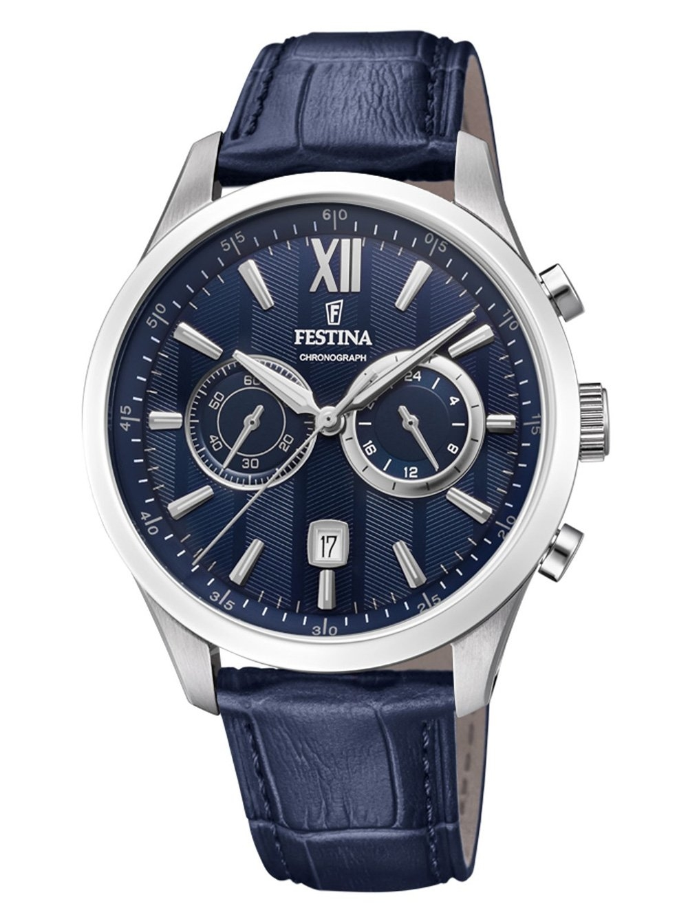 ceas barbatesc festina f16996/3 chrono 44mm 5atm