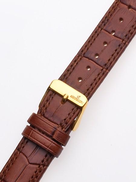 curea de ceas uhren20 x 185 mm braun goldene schliesse