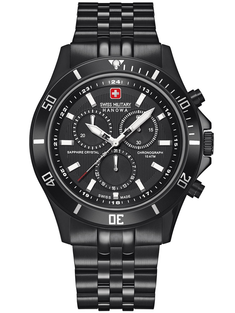 ceas barbatesc swiss military hanowa flagship 06-5183.13.007 cronograf 42 mm