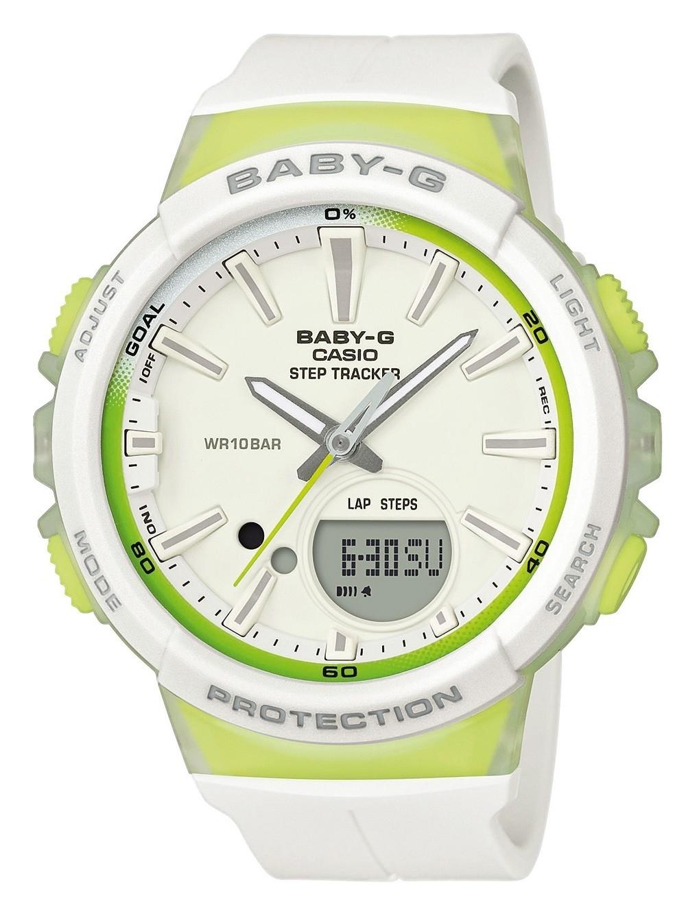 ceas de dama casio bgs-100-7a2er baby-g 42mm 20atm