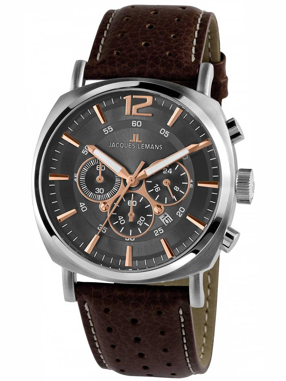 ceas barbati jacques lemans 1-1645h lugano chrono 46mm 10atm