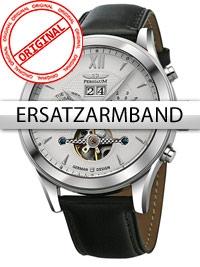 Curea de ceas Perigaum Leder P-1112 schwarz silberne Schliesse 22 mm