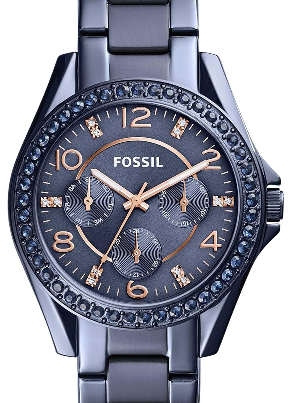watches chrono12 fossil es4294 riley damen 38mm 10atm. Black Bedroom Furniture Sets. Home Design Ideas