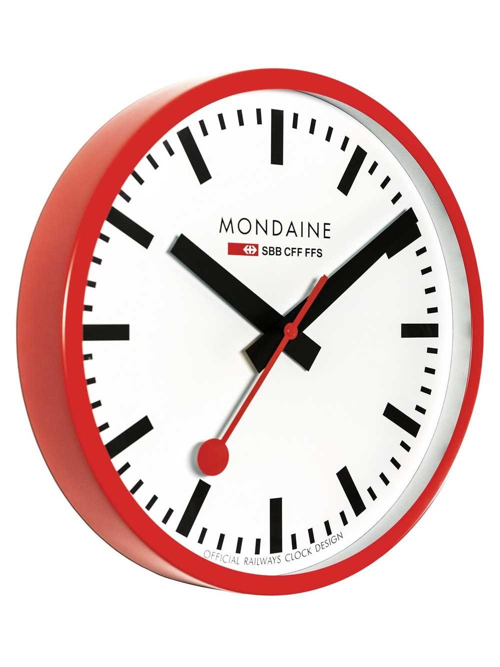 watches chrono12 mondaine a995 wanduhr rot 40 cm. Black Bedroom Furniture Sets. Home Design Ideas