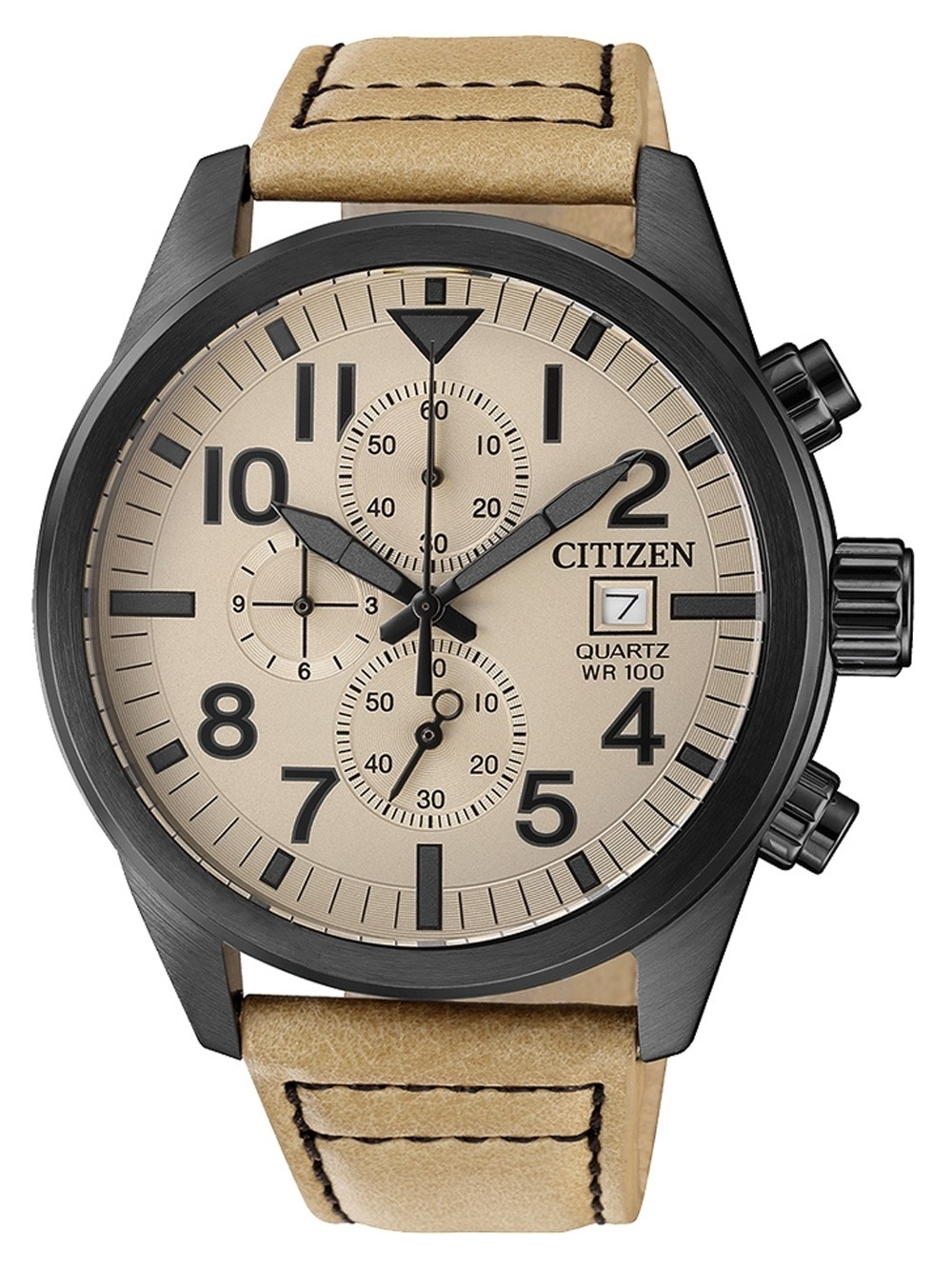 ceas barbatesc citizen an3625-07x quarz chrono. 43mm 10atm