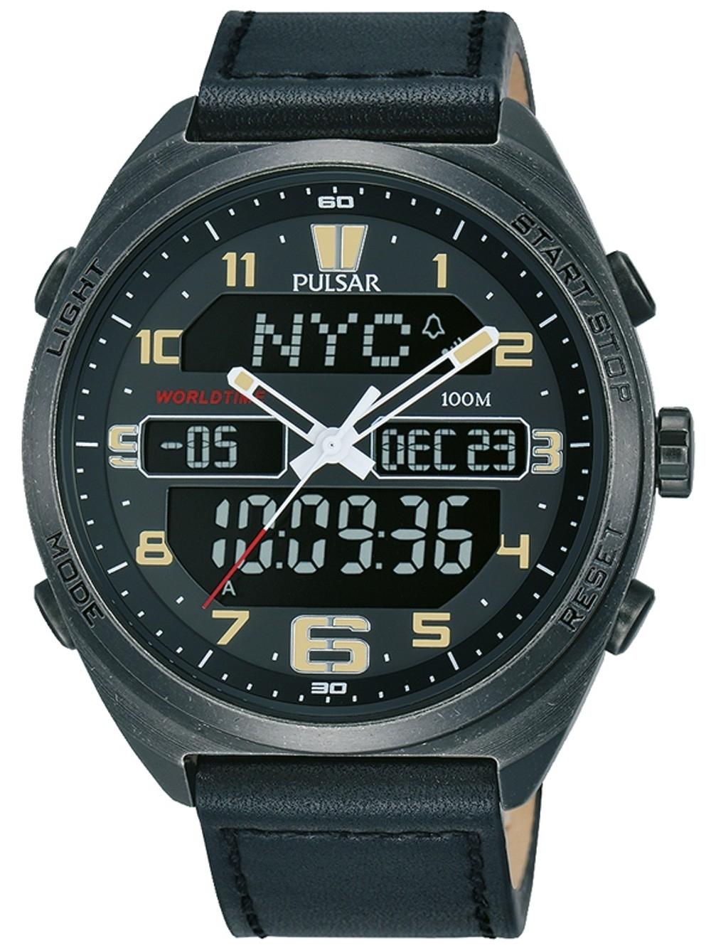 ceas barbatesc pulsar pz4045x1 chrono.45mm 10atm