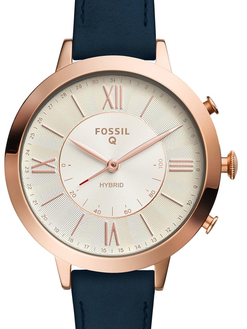 ceas de dama fossil q ftw5014 jacqueline hybrid smartwatch 36mm 5atm