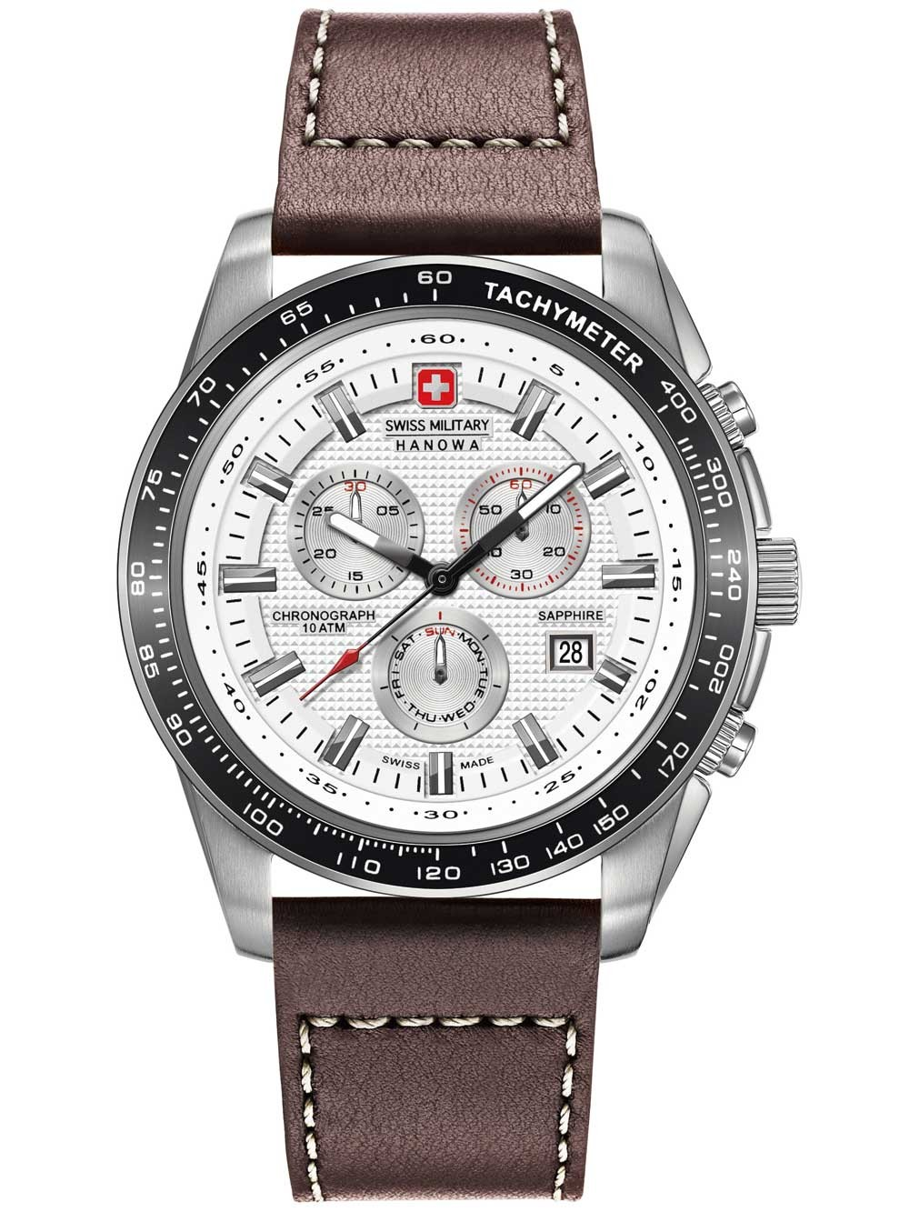 ceas barbatesc swiss military hanowa 06-4225.04.001 crusader chrono 43mm 10atm
